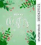 merry christmas illustration... | Shutterstock .eps vector #1832625121