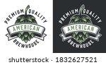 brewhouse vintage emblem with... | Shutterstock .eps vector #1832627521