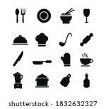 kitchen set icon flat style... | Shutterstock .eps vector #1832632327