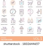 diving icons including single...   Shutterstock .eps vector #1832644657