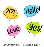 big set colorful speech bubble. ... | Shutterstock .eps vector #1832651314