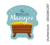 the marvelous manger banner... | Shutterstock .eps vector #1832681287