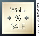 winter sale gold and black... | Shutterstock .eps vector #1832689171