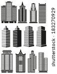 image of black high rise... | Shutterstock .eps vector #183270929