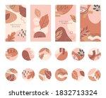 bundle of editable insta story...   Shutterstock .eps vector #1832713324