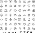 thin outline vector icon set...   Shutterstock .eps vector #1832734534
