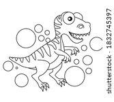 Dinosaur Animal Blackandwhite...