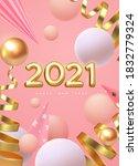 happy new 2021 year. vector... | Shutterstock .eps vector #1832779324