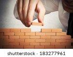 concept of businessman that... | Shutterstock . vector #183277961