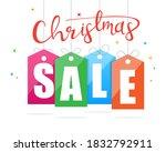 christmas sale banner design.... | Shutterstock .eps vector #1832792911