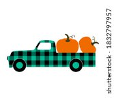 Buffalo Plaid Truck With...