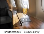 welcoming glass of champagne   Shutterstock . vector #183281549