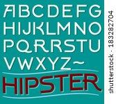 vector art deco font. retro... | Shutterstock .eps vector #183282704