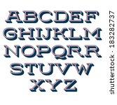 vector alphabet. decorative... | Shutterstock .eps vector #183282737