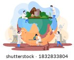 chemists make experiments to... | Shutterstock .eps vector #1832833804