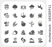 nature icons set | Shutterstock .eps vector #183285911