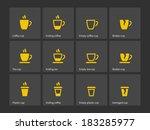 coffee mug duotone icons.... | Shutterstock .eps vector #183285977
