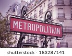 paris  france   retro metro... | Shutterstock . vector #183287141