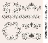 floral design elements ... | Shutterstock .eps vector #183287234