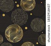 black seamless abstract pattern ... | Shutterstock .eps vector #1832918437