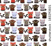 seamless pattern with cute... | Shutterstock .eps vector #183293831