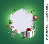 3d Render  Christmas Greeting...
