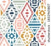 ethnic tribal argyle seamless... | Shutterstock .eps vector #1832965807