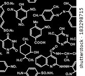chemistry seamless pattern with ... | Shutterstock .eps vector #183298715