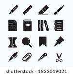 stationery icon vector logo... | Shutterstock .eps vector #1833019021