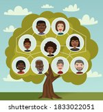genealogical tree. interracial...   Shutterstock .eps vector #1833022051