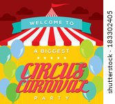 circus carnival poster template | Shutterstock .eps vector #183302405