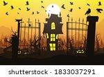 happy halloween background ...   Shutterstock .eps vector #1833037291
