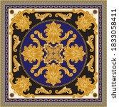 baroque silk bandana print on a ... | Shutterstock .eps vector #1833058411