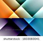 set of trendy geometric... | Shutterstock .eps vector #1833083041