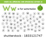find and color all letters w.... | Shutterstock .eps vector #1833121747