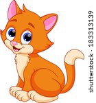 funny cat cartoon | Shutterstock .eps vector #183313139