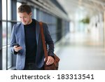 man on smart phone   young... | Shutterstock . vector #183313541