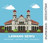 lawang sewu is a landmark in... | Shutterstock .eps vector #1833147064