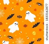 halloween seamless pattern... | Shutterstock .eps vector #1833162877
