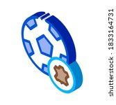 leather soccer ball icon vector.... | Shutterstock .eps vector #1833164731
