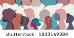 silhouette group multiethnic... | Shutterstock .eps vector #1833169384