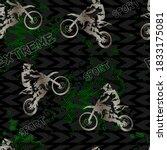 seamless sport pattern for boys ... | Shutterstock .eps vector #1833175081