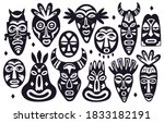 Tribal Masks Silhouettes....