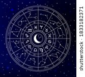 zodiac astrology circle.... | Shutterstock .eps vector #1833182371