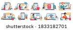 online education. internet... | Shutterstock .eps vector #1833182701