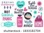 corona pandemic lettering....   Shutterstock .eps vector #1833182704