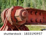 Close Up View Of A Rusty Bolte...