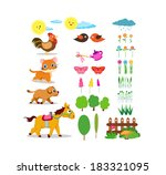 farm life set | Shutterstock .eps vector #183321095