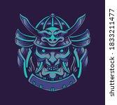 devil samurai mask vector...   Shutterstock .eps vector #1833211477