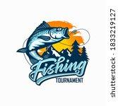 new vintage fishing tournament  ... | Shutterstock .eps vector #1833219127